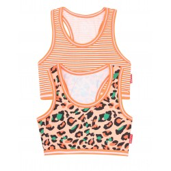 Claesen's 2-pack crop top Panther-Stripes